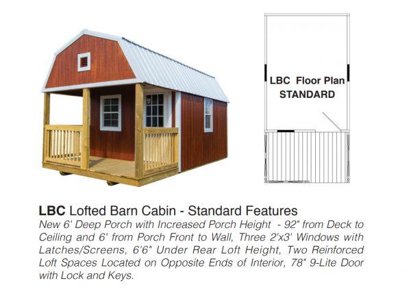 lofted barn cabin floor plan