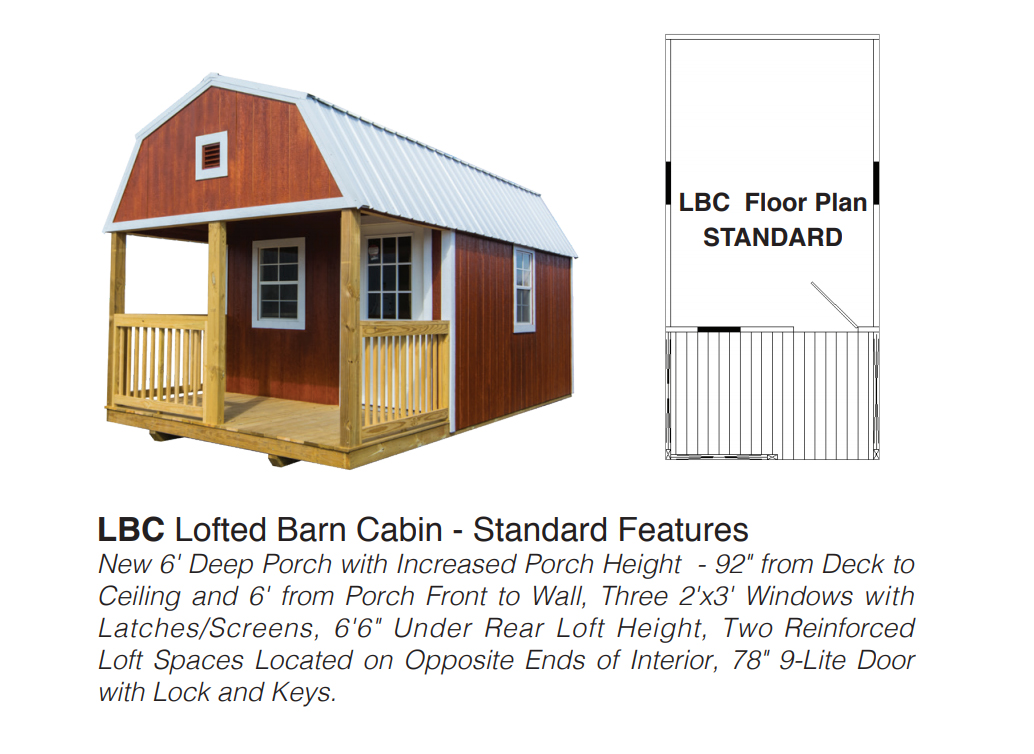 Lofted Barn Cabin Buildings By Premier