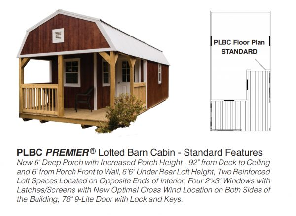 premier lofted barn cabin floor plan