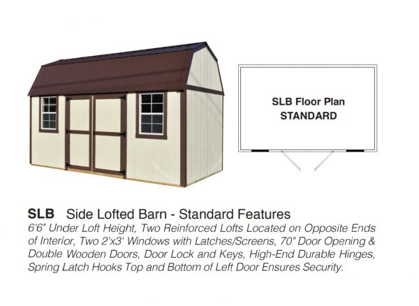 side lofted barn floor plan
